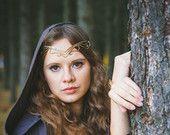 Medieval tiara elven jewelry Lidia
