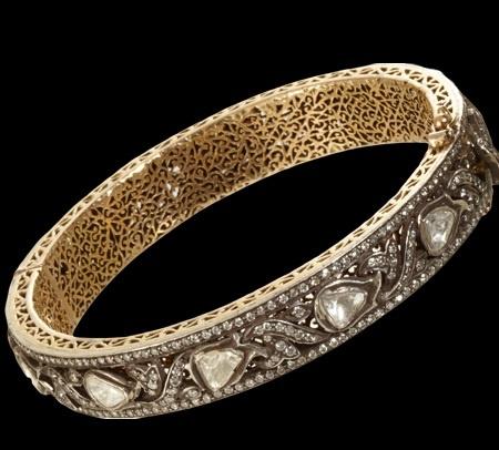 Gem Palace, Jaipur Rose Cut Diamonds, Antique Silver