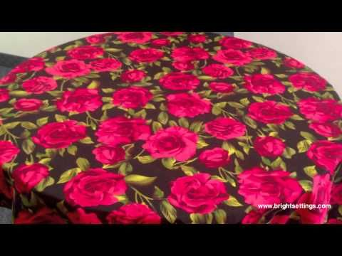 Tablecloth made with Roses Are Red Fabric