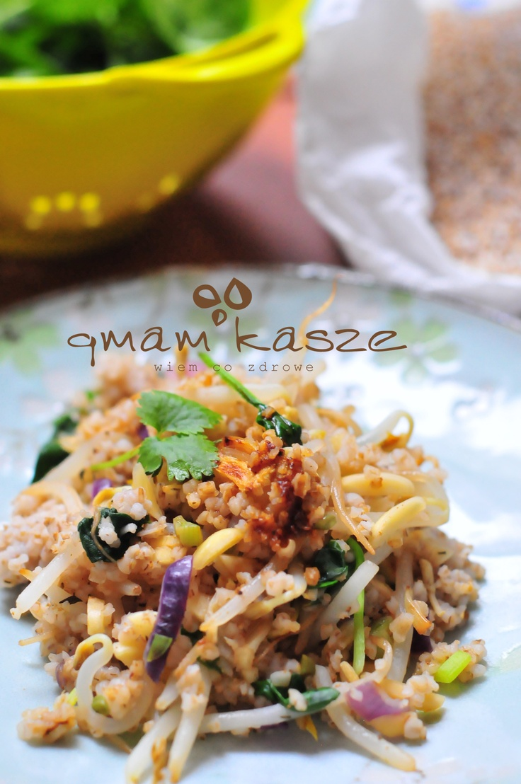 pearl barley with mung bean sprouts
