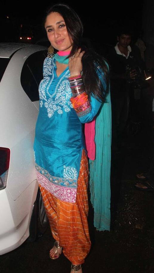 Kareena Kapoor rocking a patiala salwar suit.