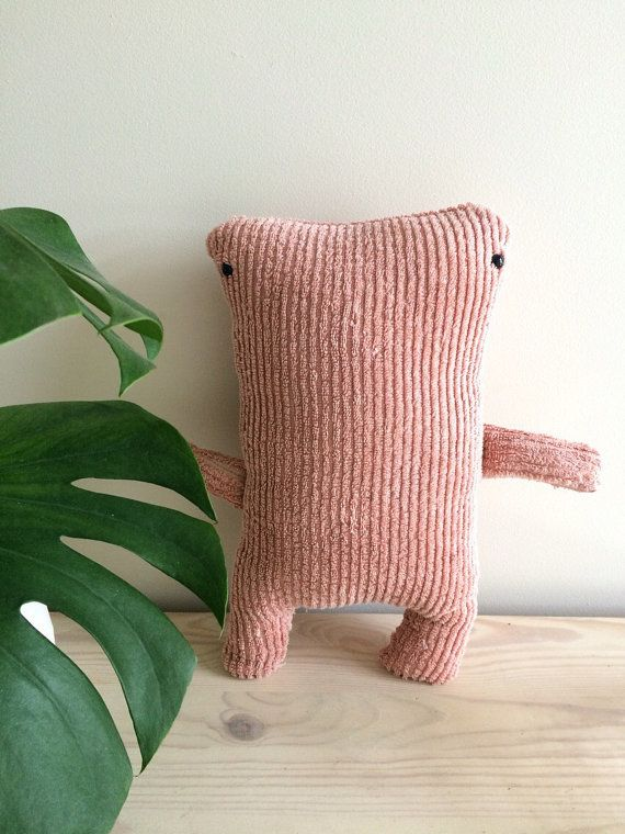 Peachy Keen Monster by DyeNumber2 on Etsy