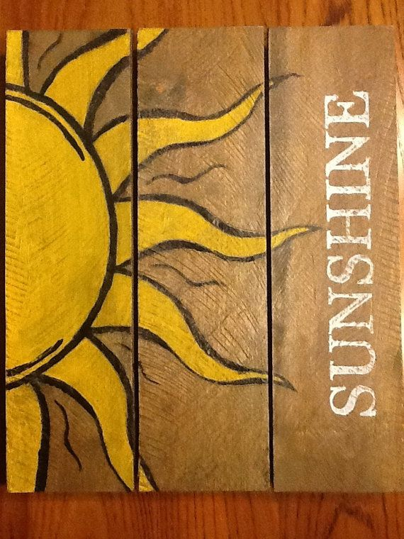 Sunshine Pallet Art by HomeDco on Etsy, $35.00