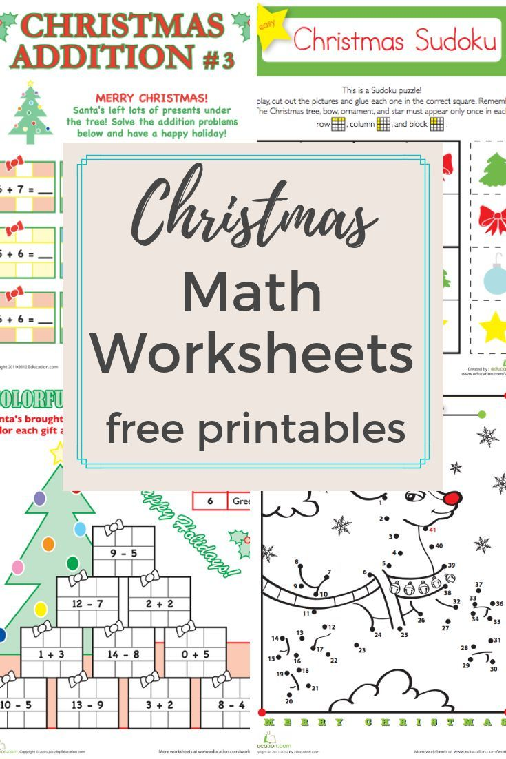 Browse More Than A Hundred Christmas Themed Math Worksheets To Do With Your Preschool K Holiday Math Worksheets Christmas Worksheets Christmas Math Worksheets