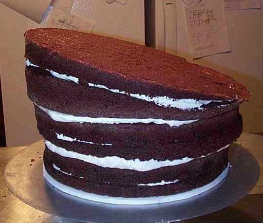 tutorial for topsy-turvy cake