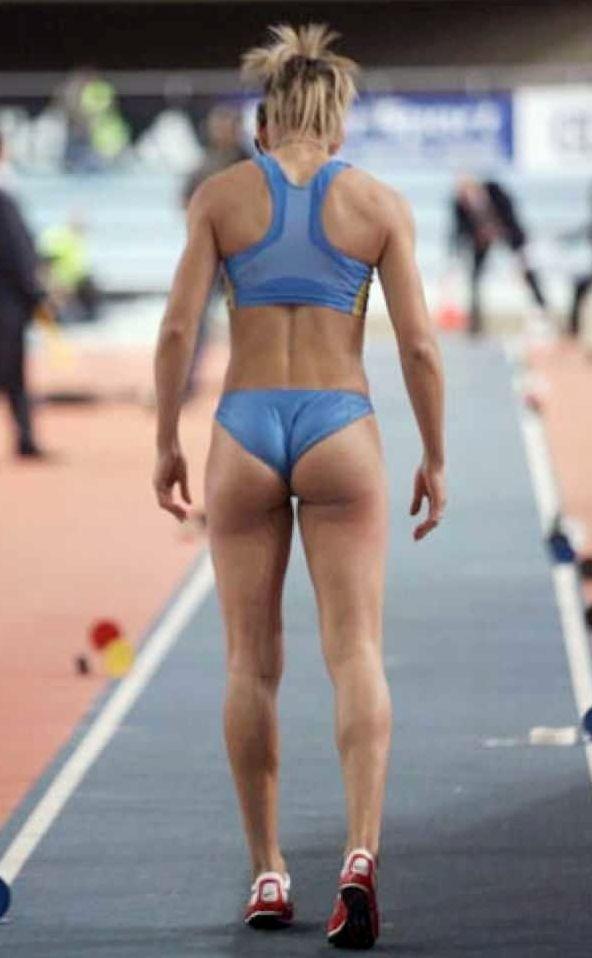 Women ass and of shots track field