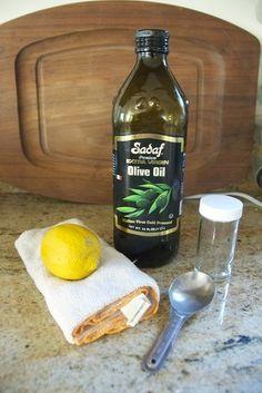 suco de 1 limão, 1 col de sopa de água e 1 colher de sopa de azeite. - colocar em uma garrafinha com tampa (tipo de detergente)