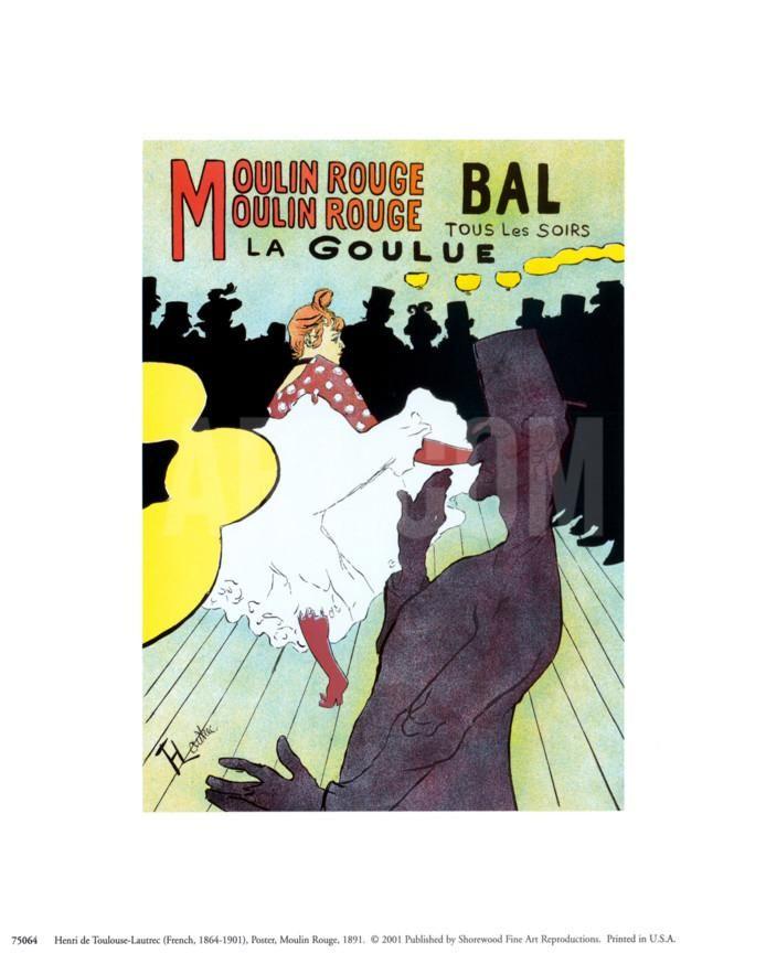 Moulin Rouge, c.1891 Art Print by Henri de Toulouse-Lautrec at eu.art.com