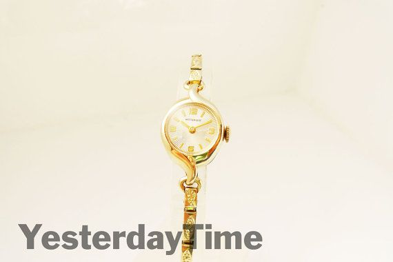 Wittnauer Longines ladies watch 1950's Swiss 17 Jewel Manual Movement Rolled Gold Case