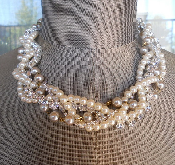 bridesmaid statement necklace