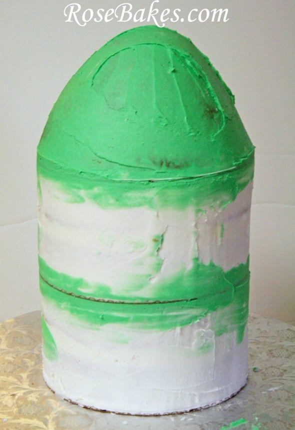 Rocket Ship Cake Tutorial Step 4