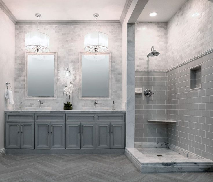 17 Best Ideas About Gray Bathrooms On Pinterest