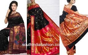 Image result for black silk sarees