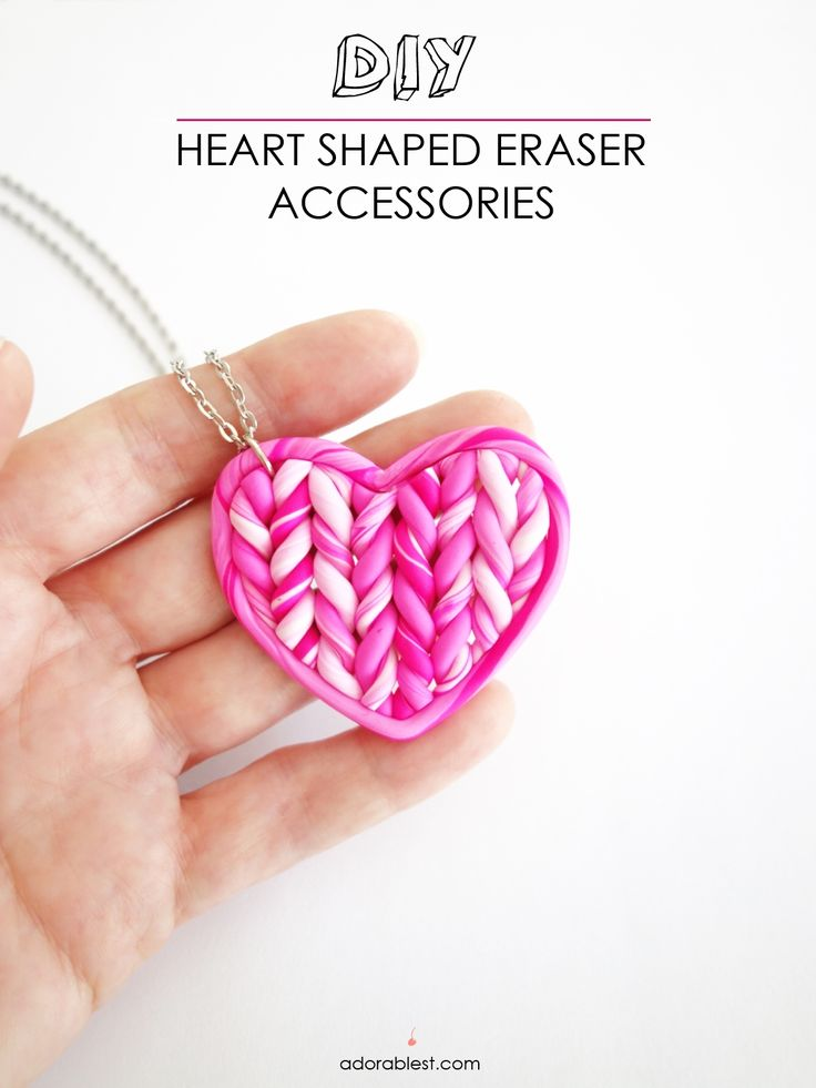 DIY - Heart Shaped Eraser Accessories | Adorablest