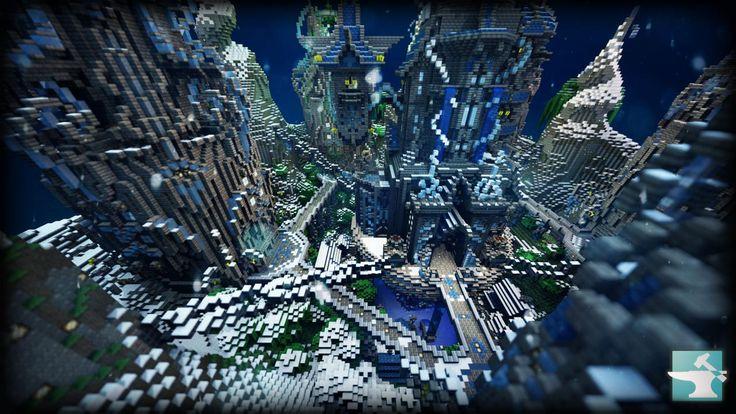 Minecraft snow fortress Minecraft Building Ideas