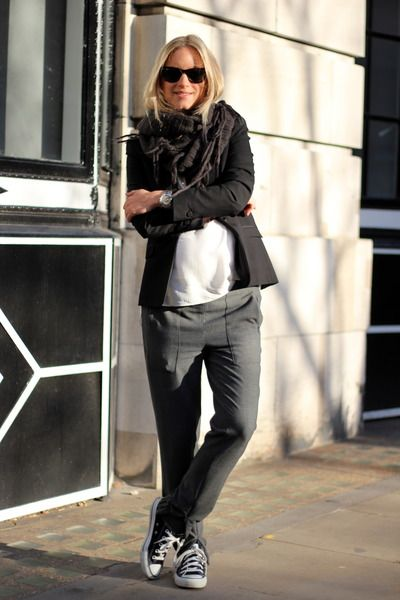 Black Chuck Converse. Wouln't mind if it is knee high too.