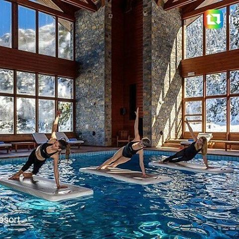 #elatosresort #travel_greece #floatfit #indoorpool #mountain #snow #resort #greeceis