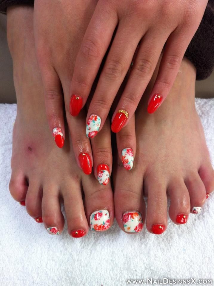 156 best toe nail designs nail art images on pinterest art red white toe nail art nail designs prinsesfo Image collections