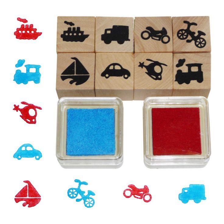 Járműves nyomdakészlet | Pandatanoda.hu Játék webáruház