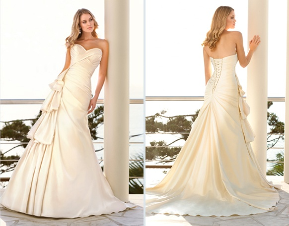 26 best stella york by ella bridals images on pinterest for Simple cream colored wedding dresses