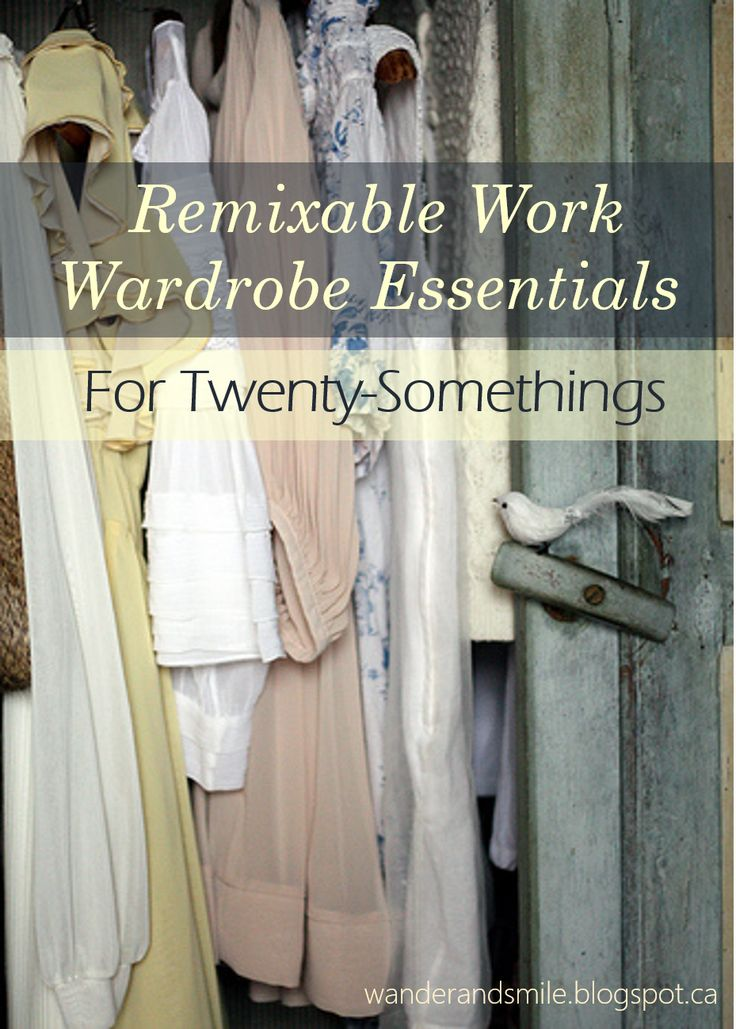 Have a hard time putting together good outfits for work? Check out this must-have list! Remixed: Professional Clothing for Twenty-Somethings