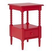 Expensive but I love the detail. $199 Kids' Nightstand: Kids Raspberry Red Spindle Nightstand in Nightstands