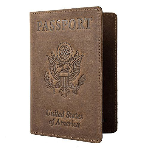 70d36cd08b7b RFID Blocking Passport Holder Travel Wallet - Genuine Crazy Horse ...