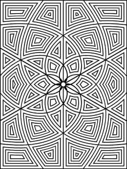 Geometrip.com - Free Geometric  Printable Coloring Designs - Rectangles