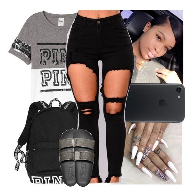 """""""p.i.n.k. contest"""" by danny-baby-xoxo ❤ liked on Polyvore featuring Victoria's Secret"""