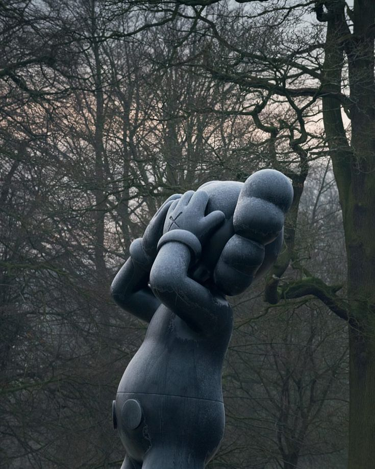 "31.9k Likes, 110 Comments - @kaws on Instagram: ""AT THIS TIME, @yspsculpture #tbt curated by @clare.lilley photo by @jontywilde #KAWS"""