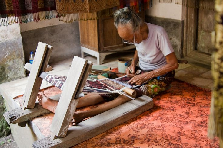 Traditional weaving is alive and well in Tenganan, Bali.