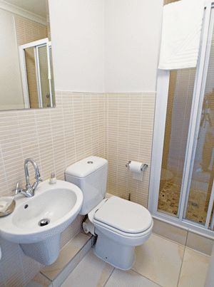 Self catering accommodation, Muizenberg, Cape Town   A view of the bathroom   http://www.capepointroute.co.za/liveit-muizenberg.php