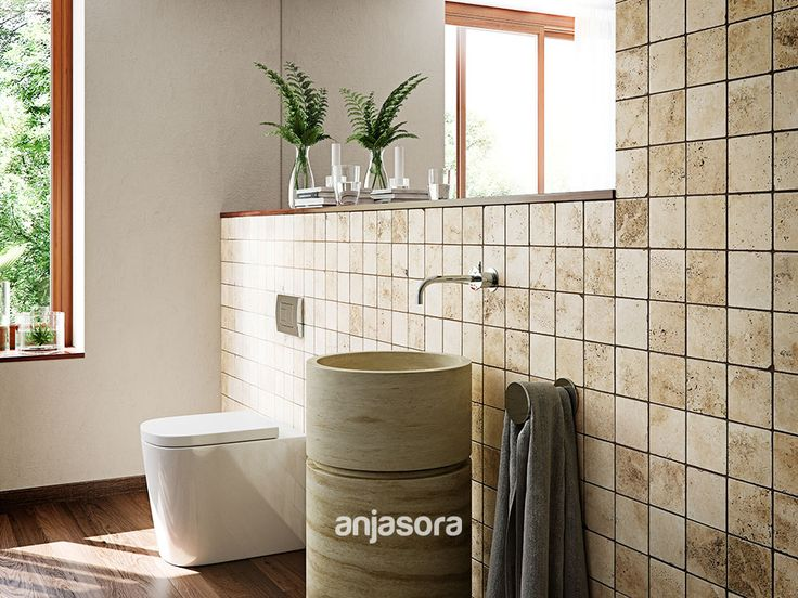 Let the light in and shine your bathroom with the rustic - Catalogo banos rusticos ...