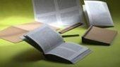 """Dopo il libro tradizionale e l'e-book, arriva l' """"E-paper book"""", progetto per ottenere in modo semplice, veloce ed ecosostenibile un testo su supporto cartaceo da un libro digitale.    Per realizzarlo serviranno solo stampante, piegatrice e kit di rilegatura base.   I testi potranno essere stampati in pochi minuti su carta riciclata, e si potranno scegliere anche le dimensioni del carattere o la stampa in braille.       L.G.  #newslibrose #epaperbook #ebook #libri #editoria"""