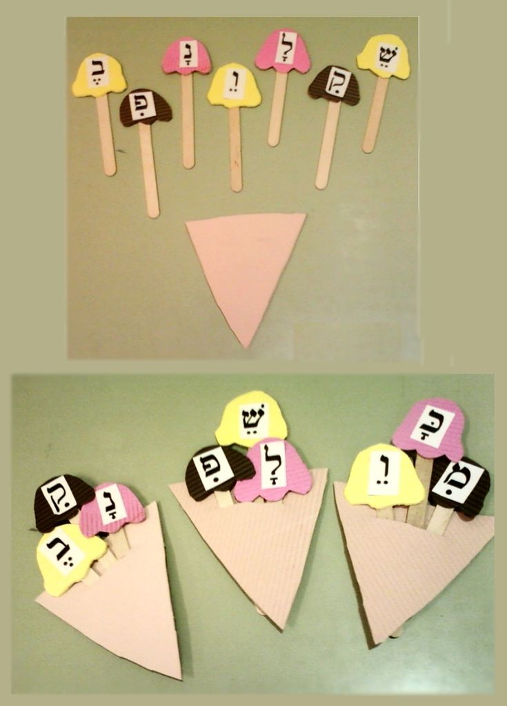 The children have to assemble 3 ice cream flavors, each flavor represents syllables with kamatz / Pataj, segol / serek, and Jirik then each one reads his ice cream flavors