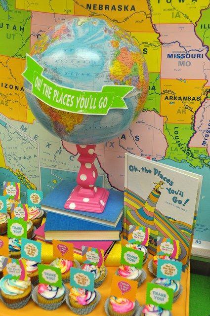 """Dr. Seuss """"Oh, the Places You'll Go!"""" Party #drseuss #party"""
