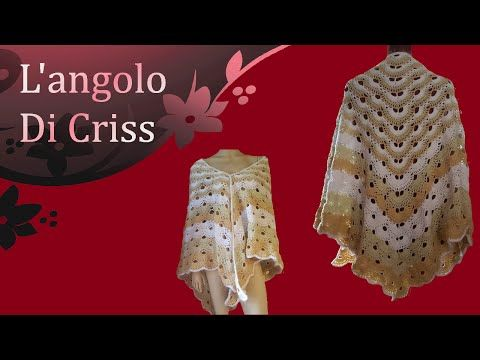 Scialle all'uncinetto - crochet shawl - chal a ganchillo - tutorial passo a…