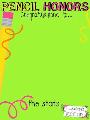 Pencil Honors! (The Great Pencil Challenge Part 2) - Ladybug's Teacher Files