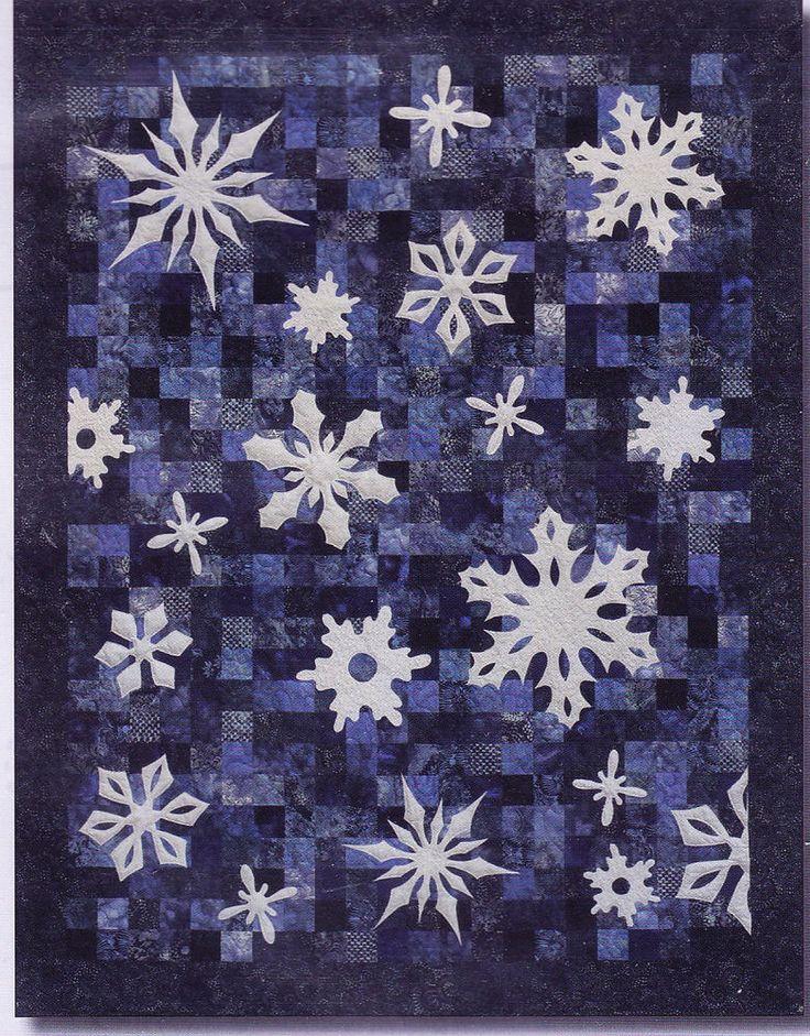 Snowfall - pieced & applique winter quilt PATTERN