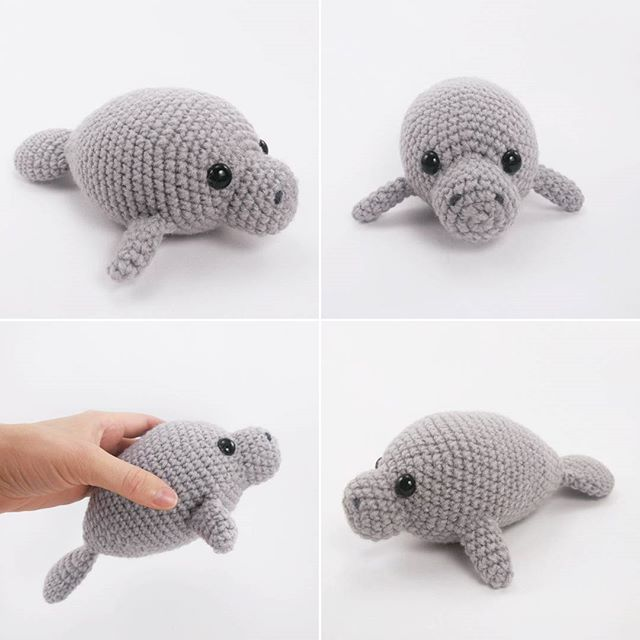 Amigurumi Manatee Pattern : The 64 best images about Theresas Crochet Shop: Crochet ...
