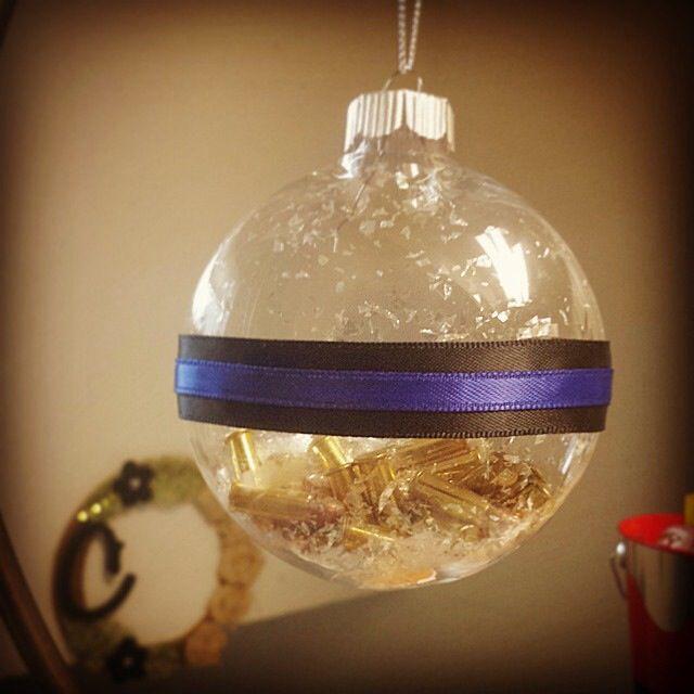 Police officer Christmas ornament   http://craftyadhdmama.blogspot.com