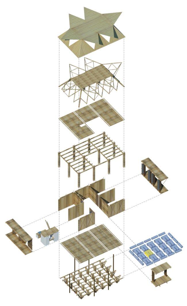 bambushäuser wohnprojekt in h&p architekten vietnam