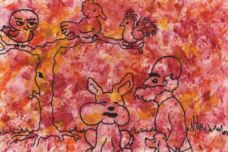 """Artmoney - unique piece of art doubling as a gift card """"Tro ikke på alt en kanin fortæller dig"""" (""""Don't belive everything a rabbit tells you"""")"""