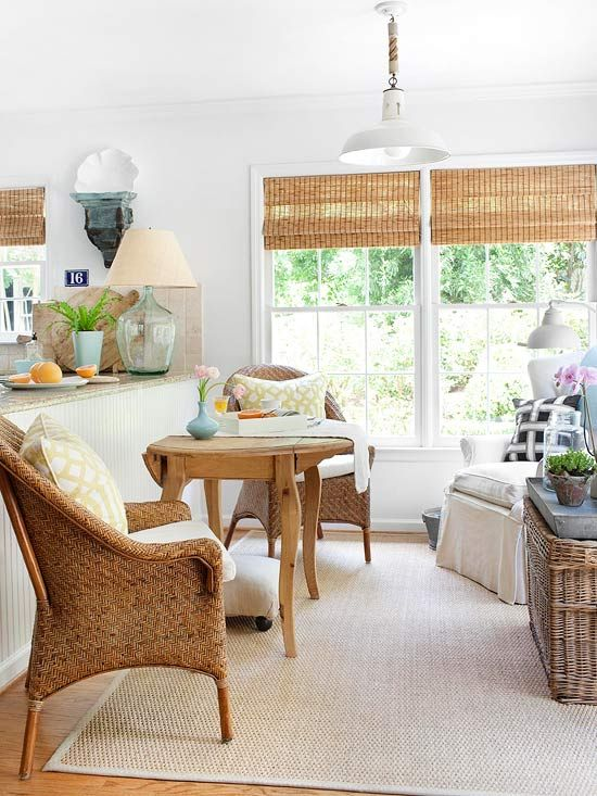 functional space with a great look. The small drop leaf table would be a great item for the corner in the breakfast room