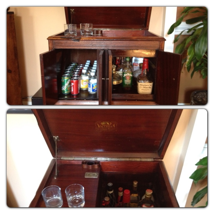 My Old Victrola Turned Into A Bar Things I Have Done