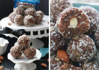 Stuffed Almond Joy Energy Bites