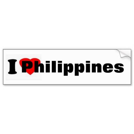 Red heart philippines bumper sticker