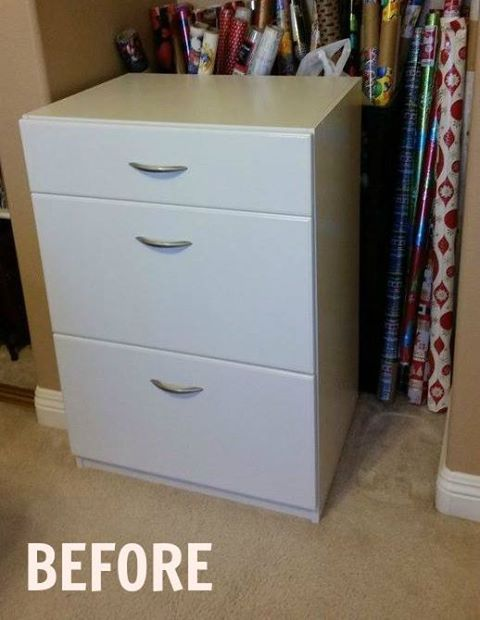 A husband and wife organize their craft room. They buy a set of drawers at Home Depot, but then they do THIS!