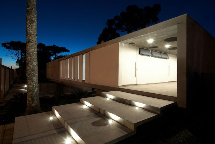 Modern house lighting design architecture 01 for Building exterior lighting design