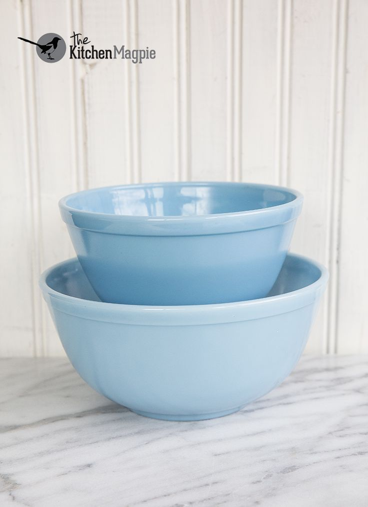 Vintage Pyrex Bluebell Delphite Mixing BowlsFrom Kitchenmagpies Personal Collection Click The Pic